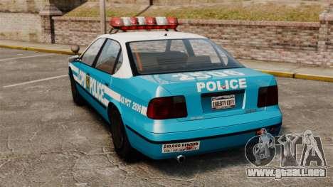 Declasse Merit Police Cruiser ELS para GTA 4 Vista posterior izquierda