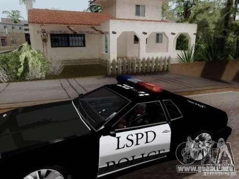 Elegy Police LS para GTA San Andreas vista posterior izquierda