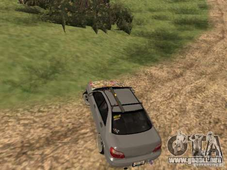 Subaru Impreza WRX para GTA San Andreas vista hacia atrás