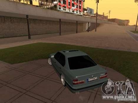 BMW E34 540i V8 para GTA San Andreas vista hacia atrás
