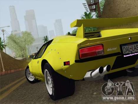 De Tomaso Pantera GT4 para visión interna GTA San Andreas