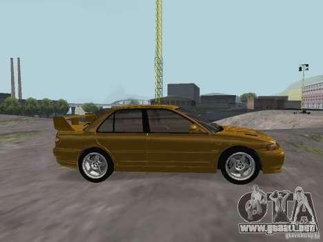 Mitsubishi Lancer Evolution III para GTA San Andreas left