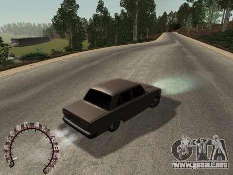 VAZ 2107 para GTA San Andreas vista posterior izquierda