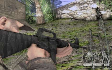 M16A1 Vietnam war para GTA San Andreas sucesivamente de pantalla
