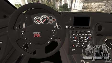 Nissan GT-R 2012 Black Edition para GTA 4 ruedas