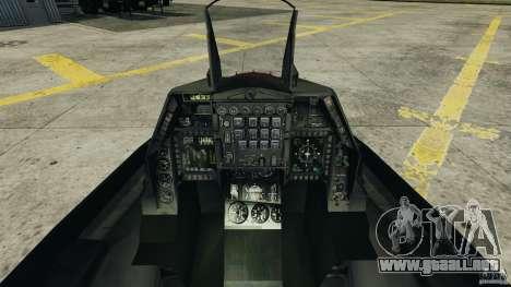 Fighterjet para GTA 4 visión correcta