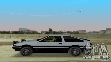 Toyota Trueno Sprinter para GTA Vice City vista posterior