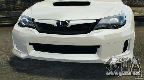 Subaru Impreza WRX STi 2011 G4S Estonia para GTA 4 ruedas