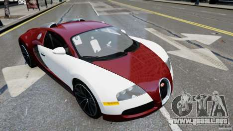 Bugatti Veyron 16.4 v1.0 wheel 1 para GTA 4 Vista posterior izquierda
