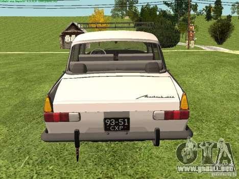 AZLK 412 para la visión correcta GTA San Andreas