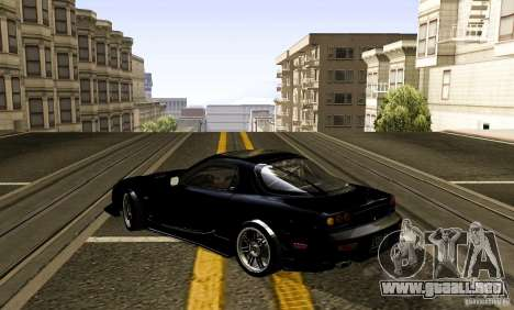 Mazda RX-7 C-West para GTA San Andreas vista posterior izquierda