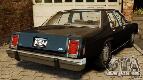 Ford LTD Crown Victoria 1987 para GTA 4 Vista posterior izquierda