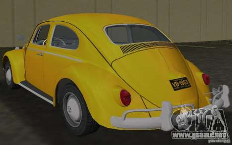 Volkswagen Beetle 1963 para GTA Vice City visión correcta