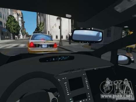 Toyota Prius EKO TAXI (Hrvatski taxi) para GTA 4 vista hacia atrás