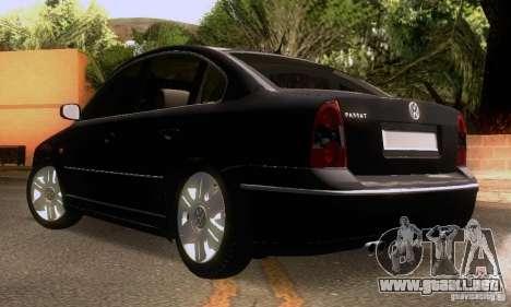 Volkswagen Passat B5+ para la vista superior GTA San Andreas