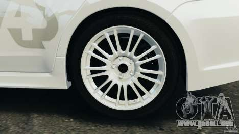 Subaru Impreza WRX STi 2011 G4S Estonia para GTA motor 4