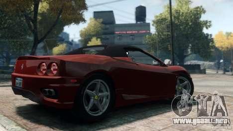 Ferrari 360 Spider 2000 para GTA 4 left