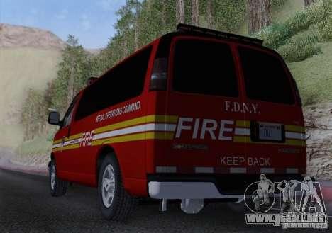 Chevrolet Express Special Operations Command para visión interna GTA San Andreas