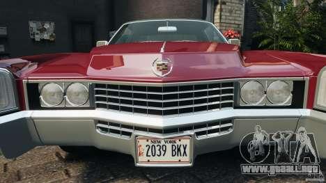 Cadillac Eldorado 1968 para GTA 4 ruedas