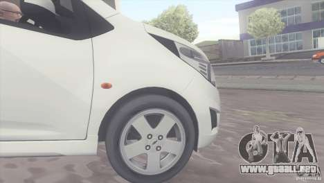 Chevrolet Spark 2011 para la visión correcta GTA San Andreas