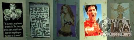 Nuevos carteles en el apartamento del segundo para GTA 4