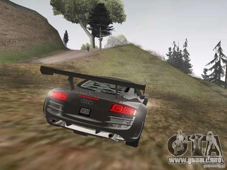 Audi R8 LMS v3.0 para GTA San Andreas vista hacia atrás