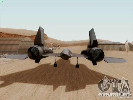 YF-12A para la visión correcta GTA San Andreas
