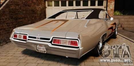 Chevrolet Impala 427 SS 1967 para GTA 4 Vista posterior izquierda