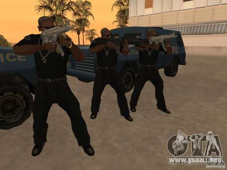 M4A1 from Left 4 Dead 2 para GTA San Andreas sexta pantalla