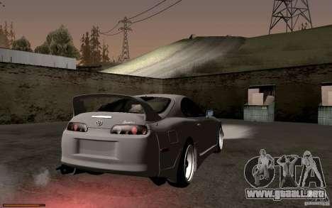 Toyota Supra D1 1998 para GTA San Andreas vista hacia atrás