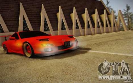 Mazda RX7 Hellalush V.2 para la visión correcta GTA San Andreas