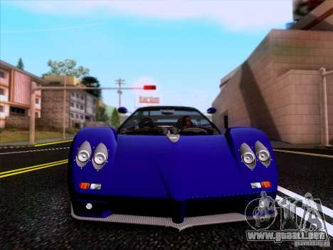 Pagani Zonda C12S Roadster para visión interna GTA San Andreas