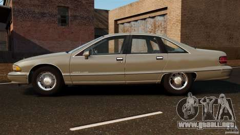 Chevrolet Caprice 1991 para GTA 4 left