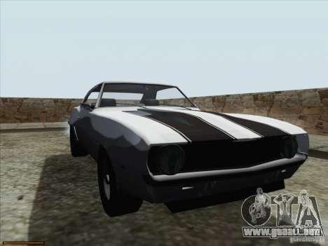 Chevrolet Camaro 1969 para la vista superior GTA San Andreas