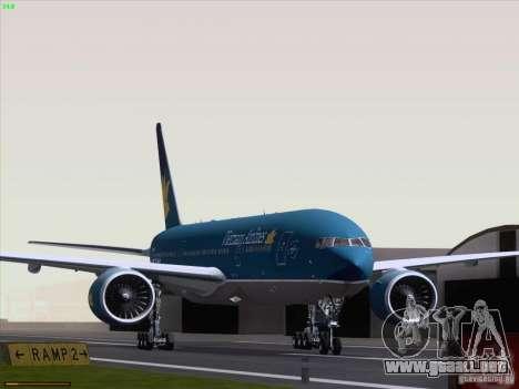 Boeing 777-2Q8ER Vietnam Airlines para GTA San Andreas left