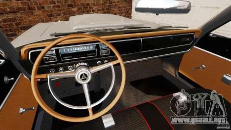 Dodge Coronet 1967 para GTA 4 vista hacia atrás