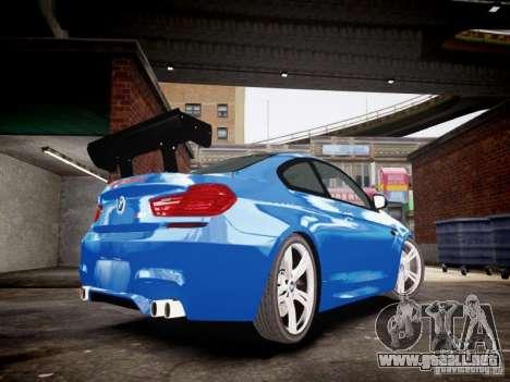 BMW M6 2013 para GTA 4 Vista posterior izquierda