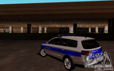 Volkswagen Passat B6 Variant Polizei para GTA San Andreas vista posterior izquierda
