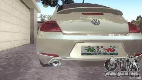 Volkswagen Beetle Turbo 2012 para la visión correcta GTA San Andreas
