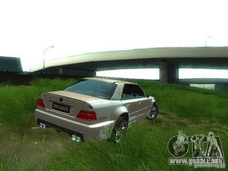 Mercedes-Benz W124 BRABUS para GTA San Andreas vista posterior izquierda