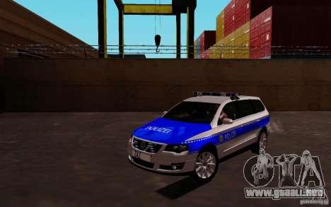 Volkswagen Passat B6 Variant Polizei para GTA San Andreas left