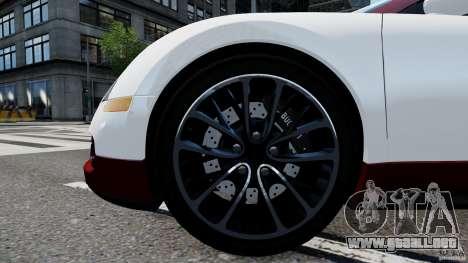 Bugatti Veyron 16.4 v1.0 wheel 1 para GTA 4 vista hacia atrás