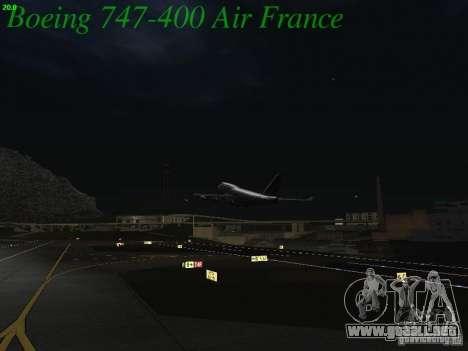 Boeing 747-400 Air France para la vista superior GTA San Andreas