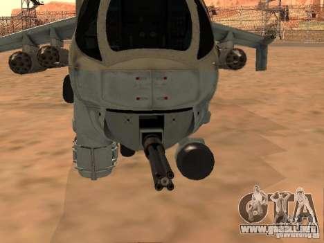 Mi-24P para la vista superior GTA San Andreas