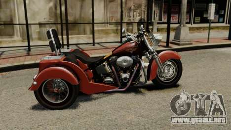 Harley-Davidson Trike para GTA 4 left