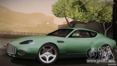 Aston Martin DB7 Zagato 2003 para vista inferior GTA San Andreas