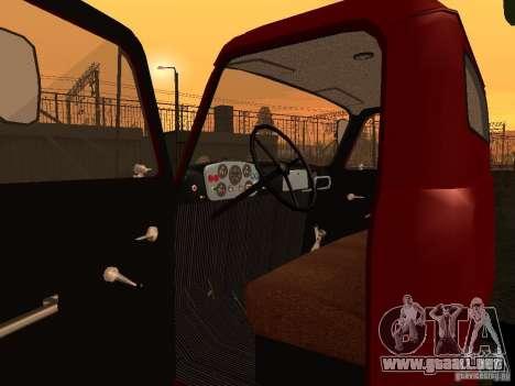 GAZ 52 para GTA San Andreas vista hacia atrás