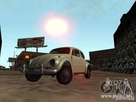Volkswagen Beetle para vista lateral GTA San Andreas