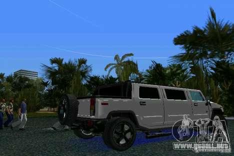 Hummer H2 SUT Limousine para GTA Vice City vista lateral izquierdo