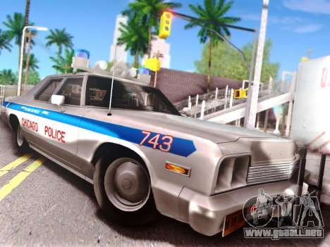 Dodge Monaco 1974 para la vista superior GTA San Andreas